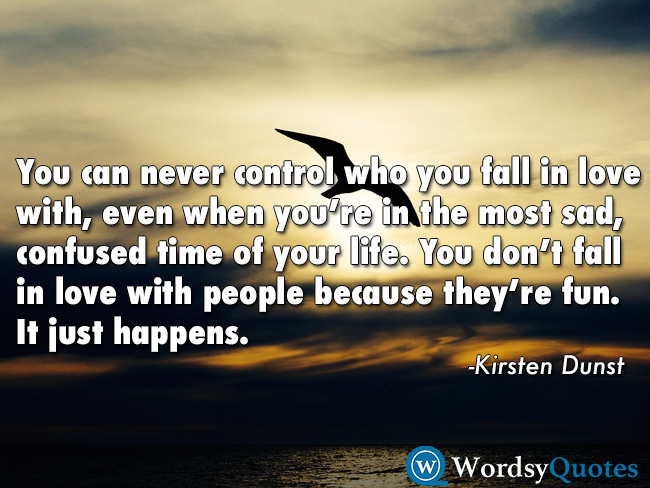 kristen dunst fall in love quotes