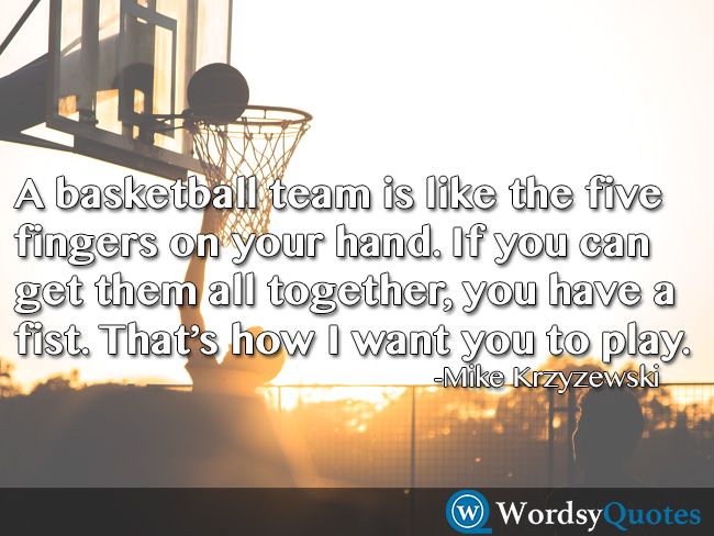 Mike Krzyzewski team basketball quotes