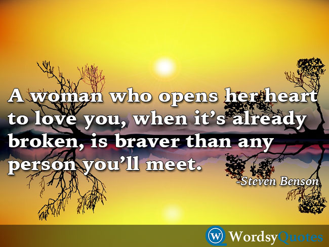 Steven Benson woman women quotes