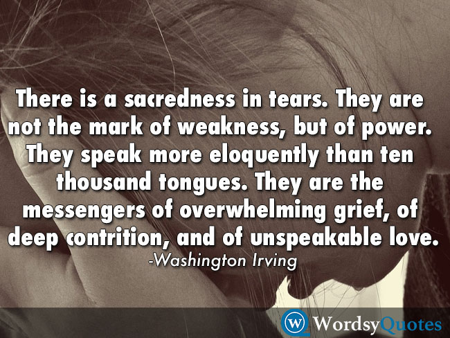 Washington Irving tears cry love quotes
