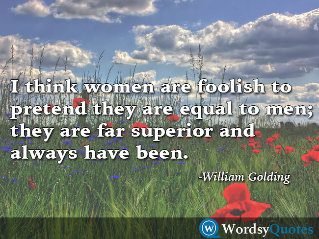William Golding men women quotes