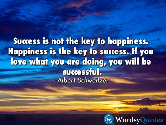 Albert Schweitzer - success quotes