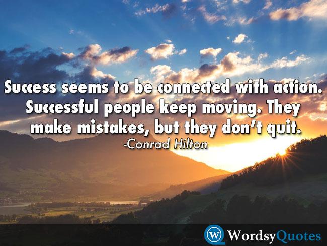 Conrad Hilton success quotes