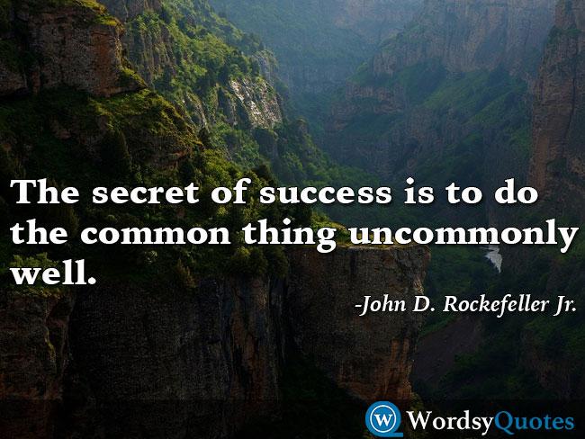 John D. Rockefeller Jr success quotes