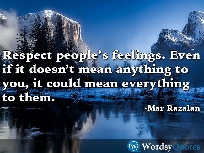 Mar Razalan respect quotes