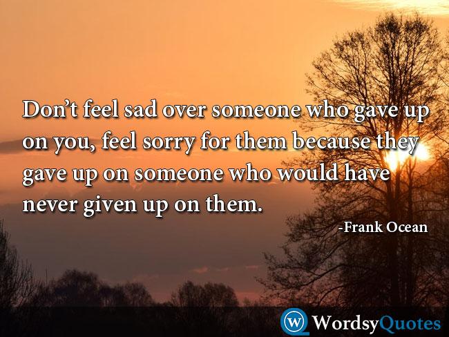 Frank Ocean sad quotes