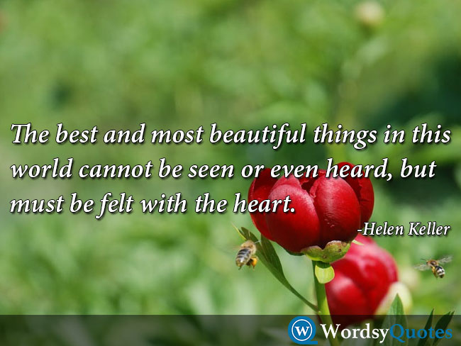 Helen Keller love quotes