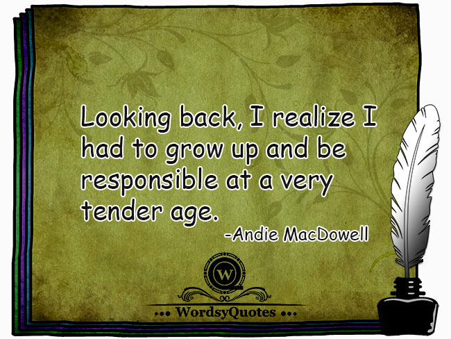 Andie MacDowell - age quotes