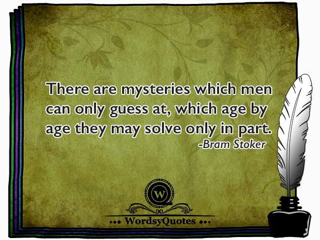 Bram Stoker - age quotes