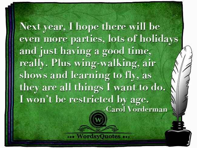 Carol Vorderman - age quotes
