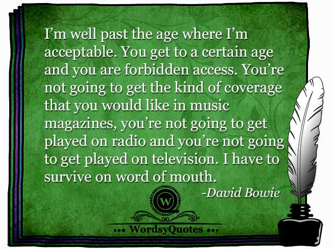 David Bowie - age quotes