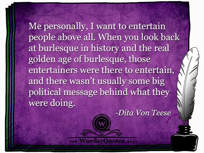 Dita Von Teese - age quotes