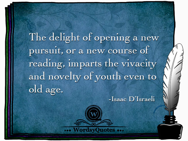 Isaac D'Israeli - age quotes