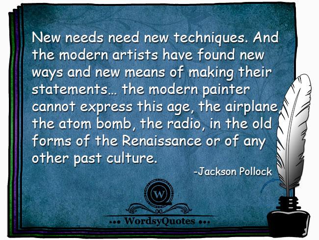Jackson Pollock - age quotes