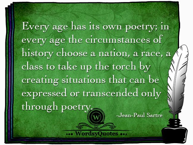 Jean-Paul Sartre - age quotes