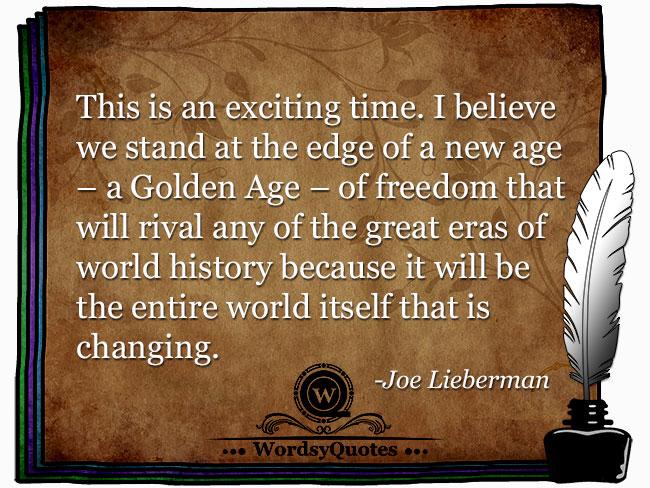 Joe Lieberman - age quotes