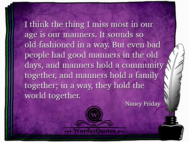 Nancy Friday - age quotes