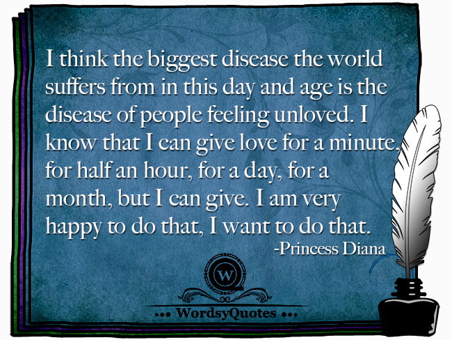 Princess Diana - age or love quotes