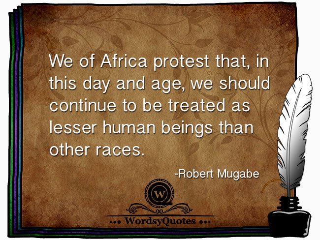 Robert Mugabe - age quotes