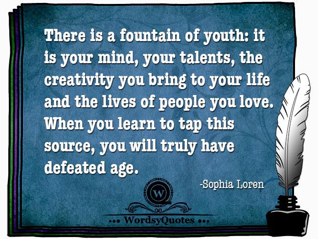 Sophia Loren - age quotes