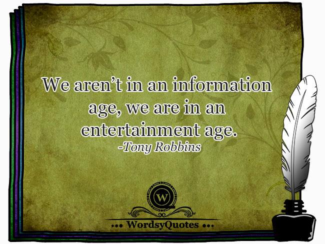 Tony Robbins - age quotes